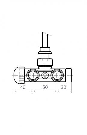 Изображение Вентиль інтегрований термостатичний з кутовою трубкою №3
